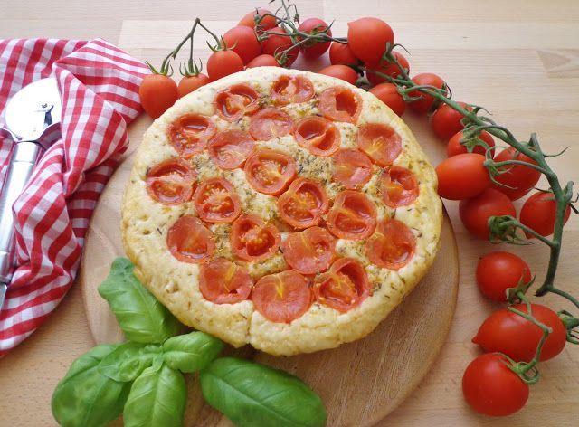 Focaccia z pomidorkami kotajlowymi