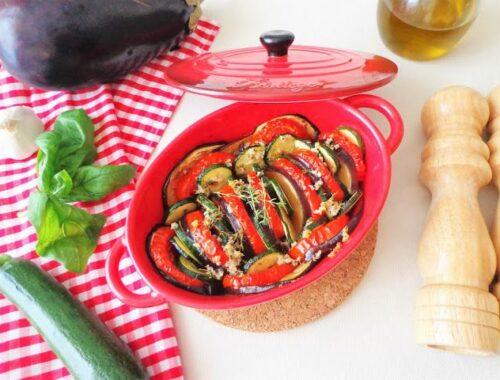 Przepis za pieczone warzywa ratatouille