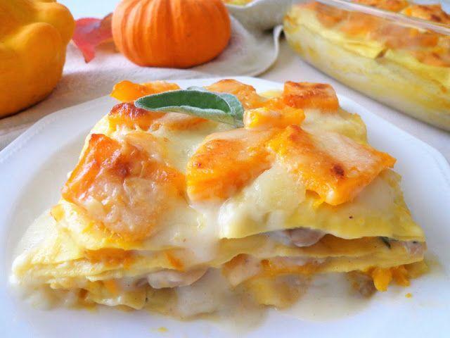 Przepis na lasagne z dynią i grzybami