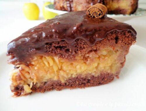 Przepis na czekoladowe ciasto z jabłkami