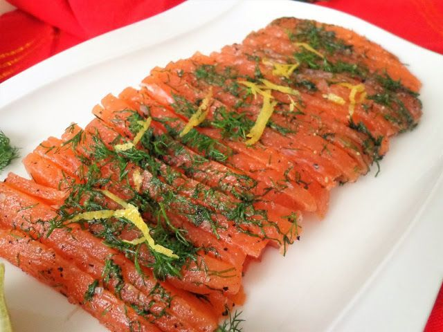 Przepis na Gravlax marynowanego łososia