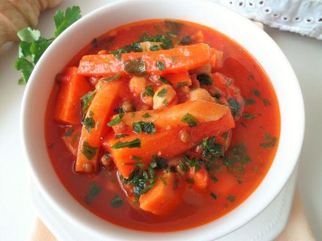 Rozgrzewająca zupa z soczewicą