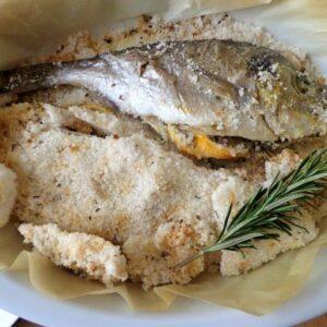 Ryba pieczona w soli