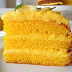 Cytrynowy tort z limoncello