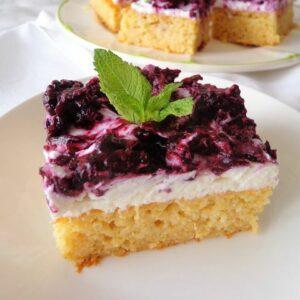 Przepis na jaglane ciasto z owocami