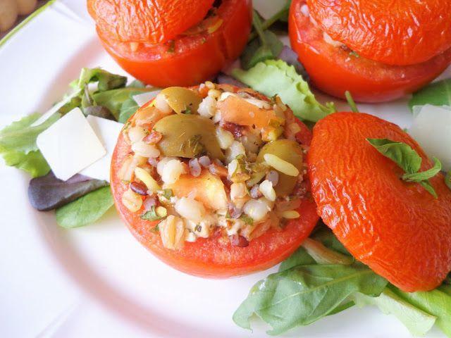 Pomidory faszerowane miksem zbóż