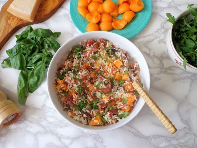 Sałatka z ryżem i melonem