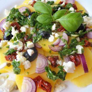 Śródziemnomorska sałatka ziemniaczana