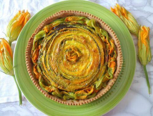 Tarta z zapiekanymi warzywami
