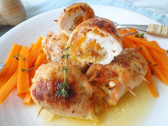 Przepis na pieczone roladki kurczaka