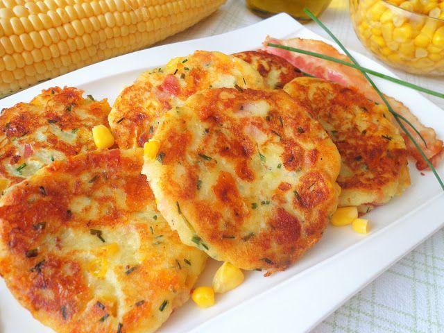 Placki ziemniaczane z kukurydzą