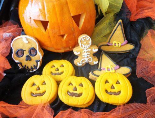 Dyniowe ciasteczka na Halloween