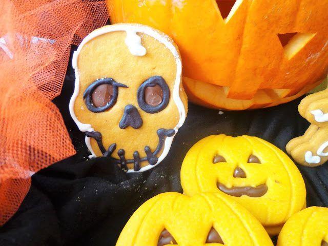 Ciasteczka z dynia na Halloween