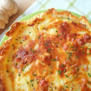 Tarta na francuskim cieście z ziemniakami