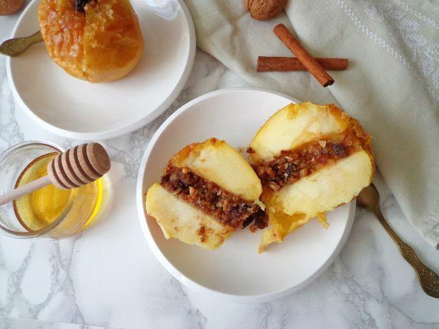 Pieczone jabłka z ciasteczkami