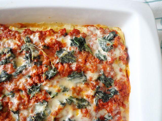 Lasagne z jarmużem