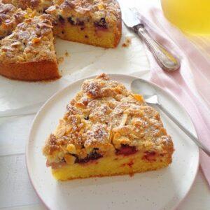 Ciasto z jabłkami i kruszonka