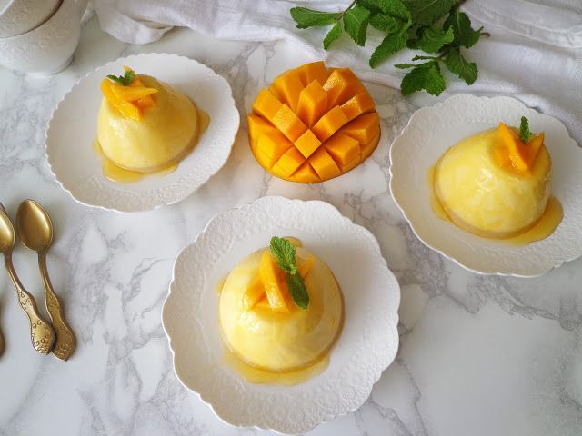 Przepis na panna cotta z mango