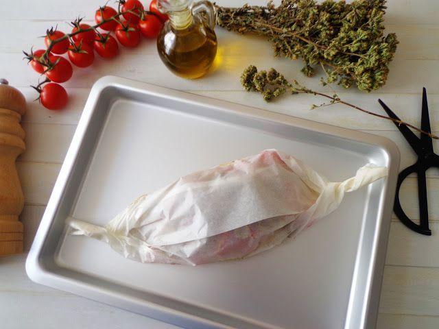 Pieczona ryba w pergaminie