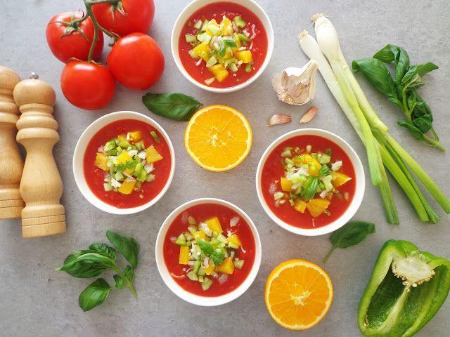 Letnie gazpacho z pomidorami i pomarańczami