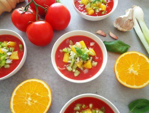 Letnie gazpacho z pomarańczami