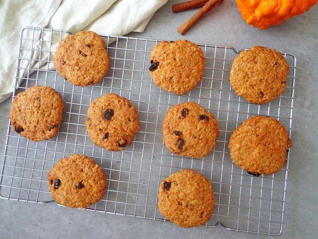Przepis na dyniowe ciasteczka z rodzynkami