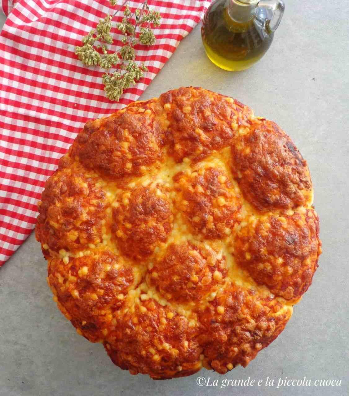 Odrywane bułeczki pizza margherita