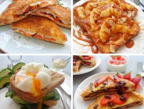 Przepisy na tosty na słodko i słono