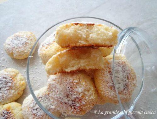 Kokosowe ciasteczka z ricottą