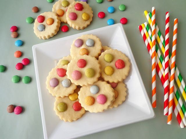 Kruche ciasteczka ze smarties