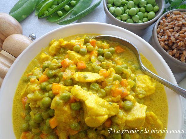 Curry z groszkiem i kurczakiem