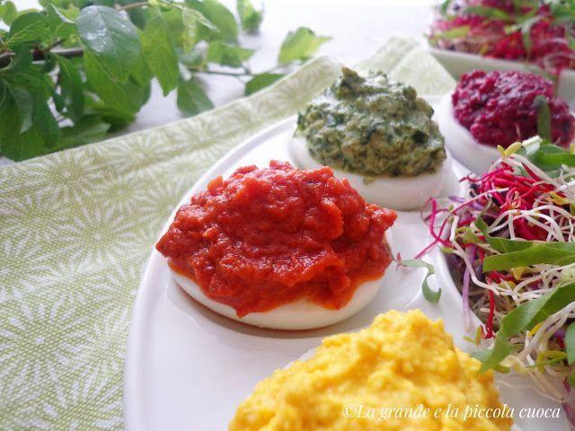 Faszerowane jajka suszonymi pomidorami