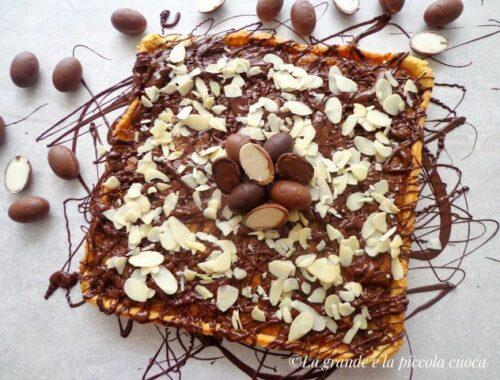 Mazurek ze słonym karmelem i czekoladą
