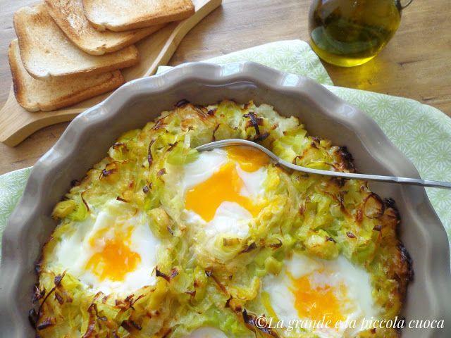 Zapiekanka z porami, ziemniakami i jajkami