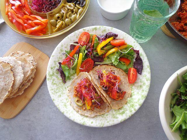 Domowe tortille z warzywami
