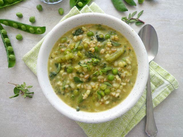 Zupa z groszkiem, fasolką i zbożami