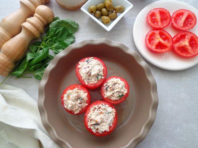 Faszerowane pomidory ricotta