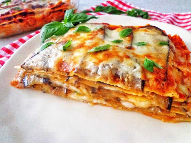 """Lasagne """"parmigiana"""" z bakłażanami i beszamelem"""