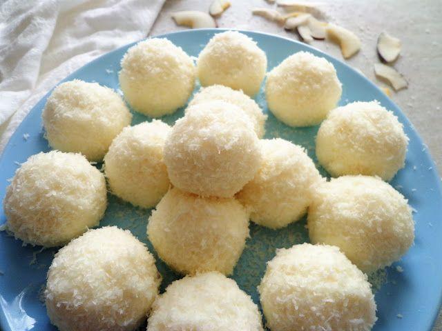 Kokosowe kuleczki z ricotty