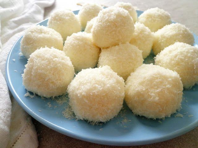 Kokosowe praliny z ricotty