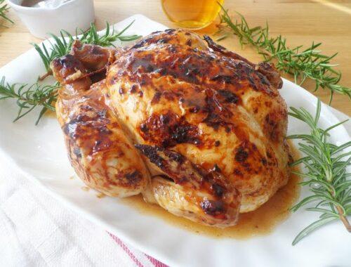 Kurczak pieczony w piwie