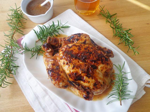 Przepis na pieczonego kurczaka w piwie