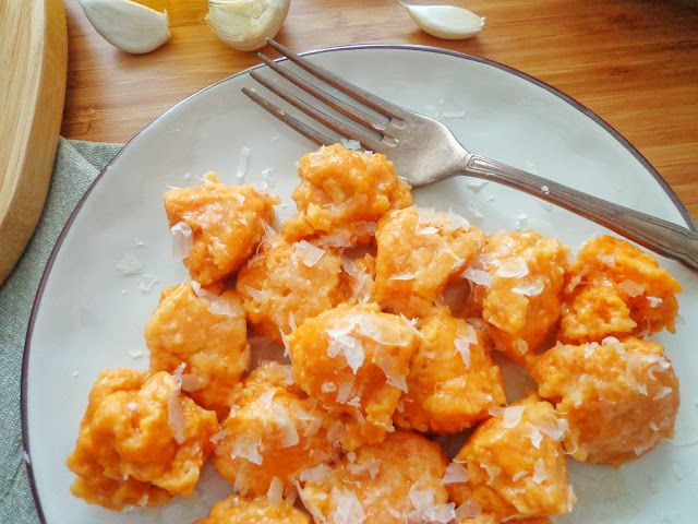 Przepis na kluski ze słodkich ziemniaków
