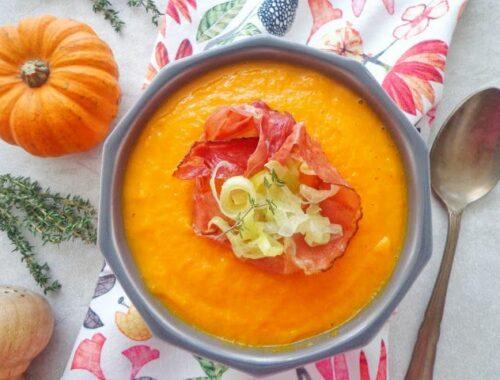 Zupa dyniowa z porem