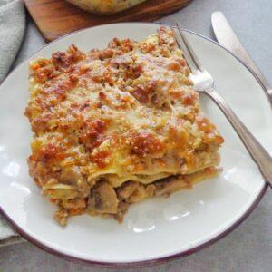 Lasagne z sosem mięsno-grzybowym