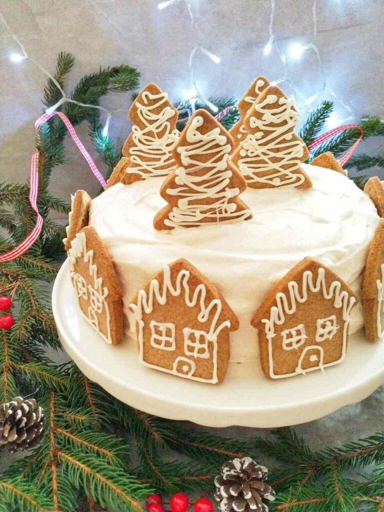 Świąteczny tort piernikowy