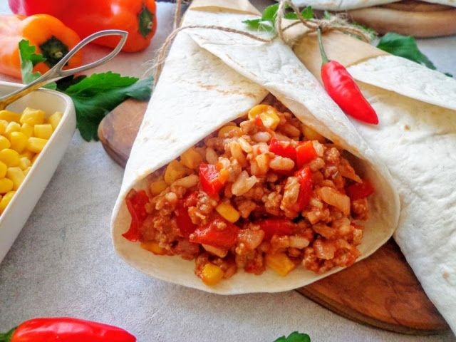 Przepis na burrito z mięsem mielonym