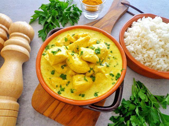 Przepis na kurczaka curry w sosie śmietanowym