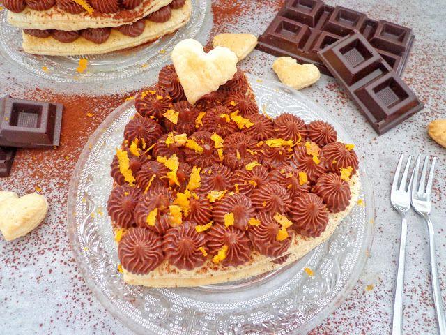 Walentynkowe serce z ciasta francuskiego