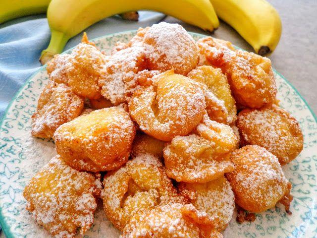 Smażone banany w cieście